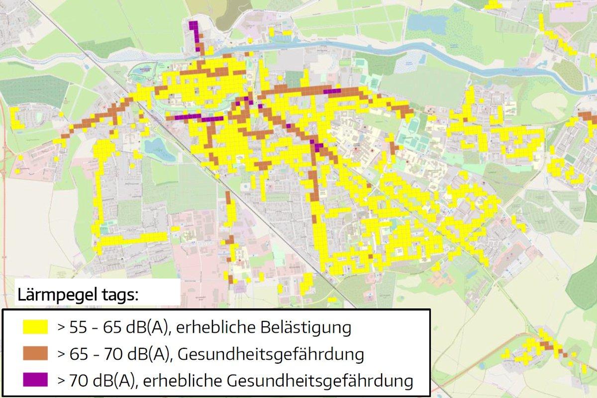 Lärmaktionsplan der UHGW: Stralsunder Straße mit gesundheitsgefährdendem Lärmpegel