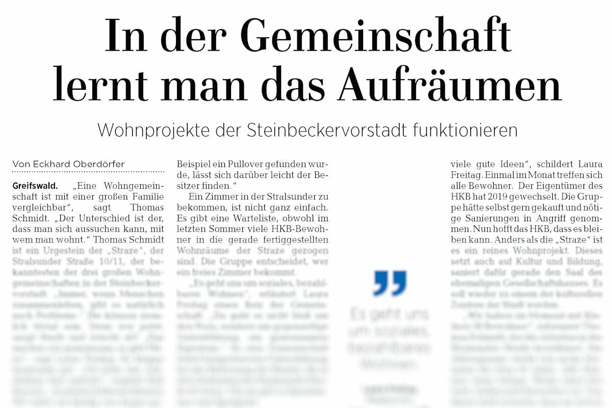 Stadtteilserie der OZ: Wohnprojekte der Steinbeckervorstadt