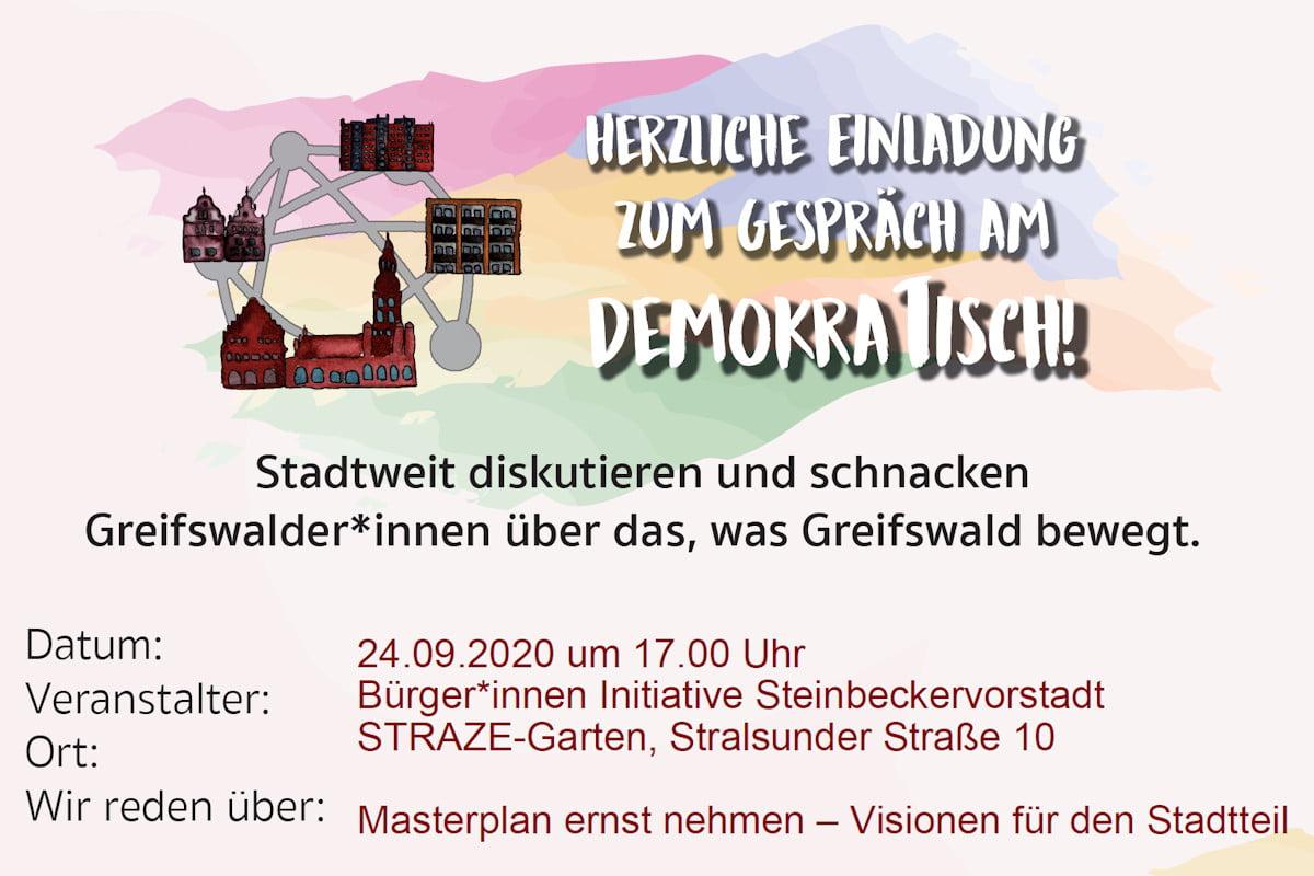 Herzliche Einladung zum Gespräch am DemokraTisch!