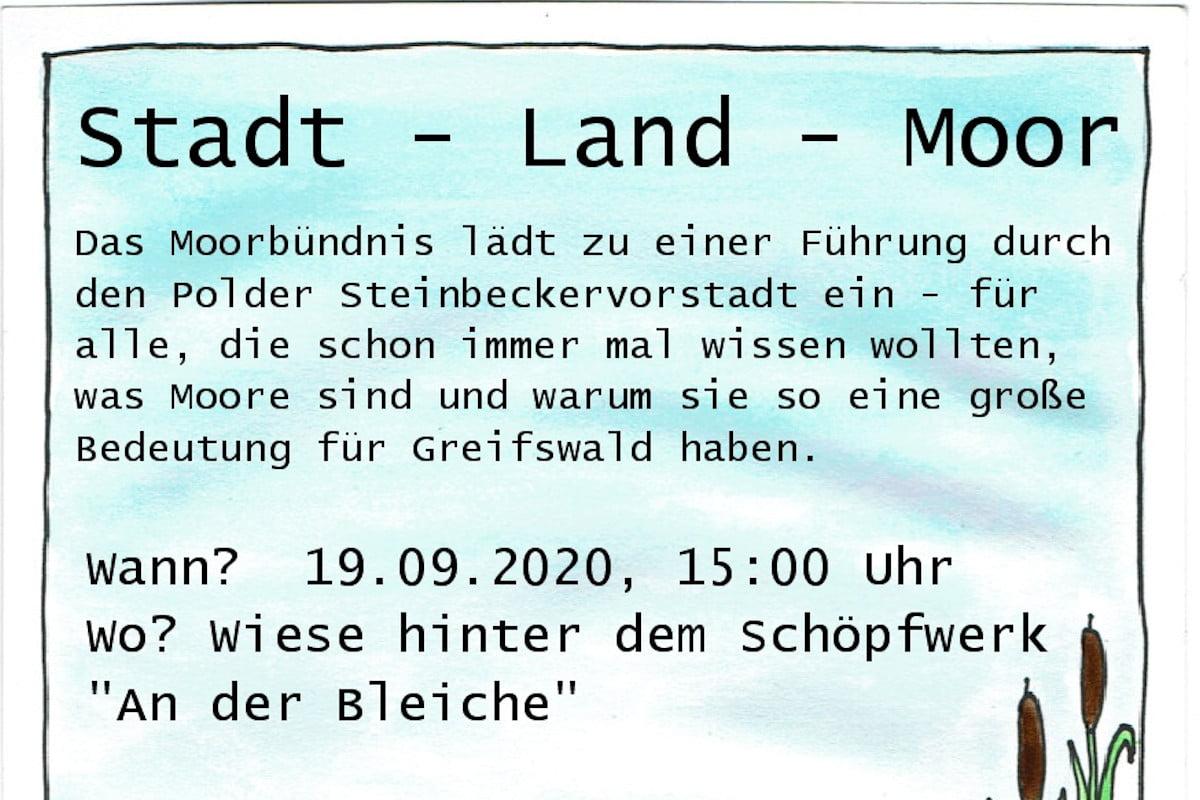 Moor-Exkursion durch den Polder Steinbeckervorstadt am 19.09.2020