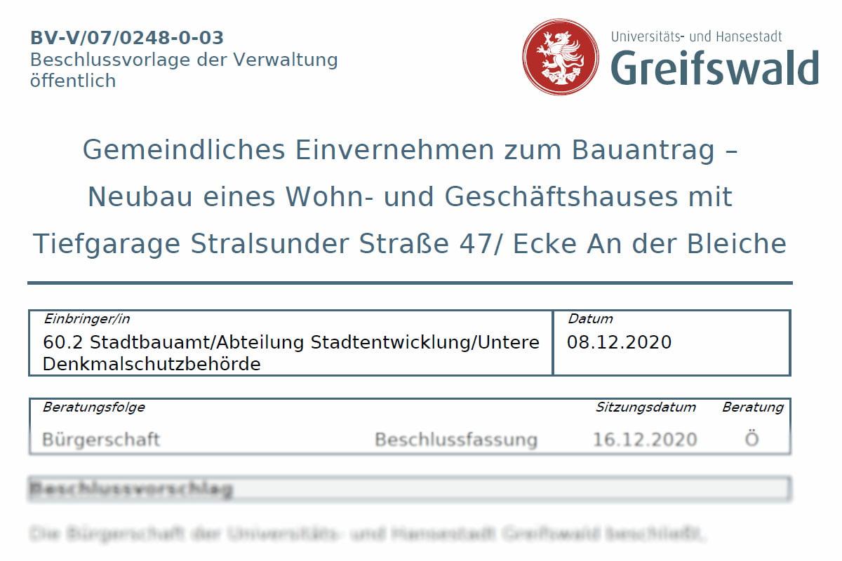 16.12.2020: Gemeindliches Einvernehmen zum Bauantrag erneut auf Tagesordnung