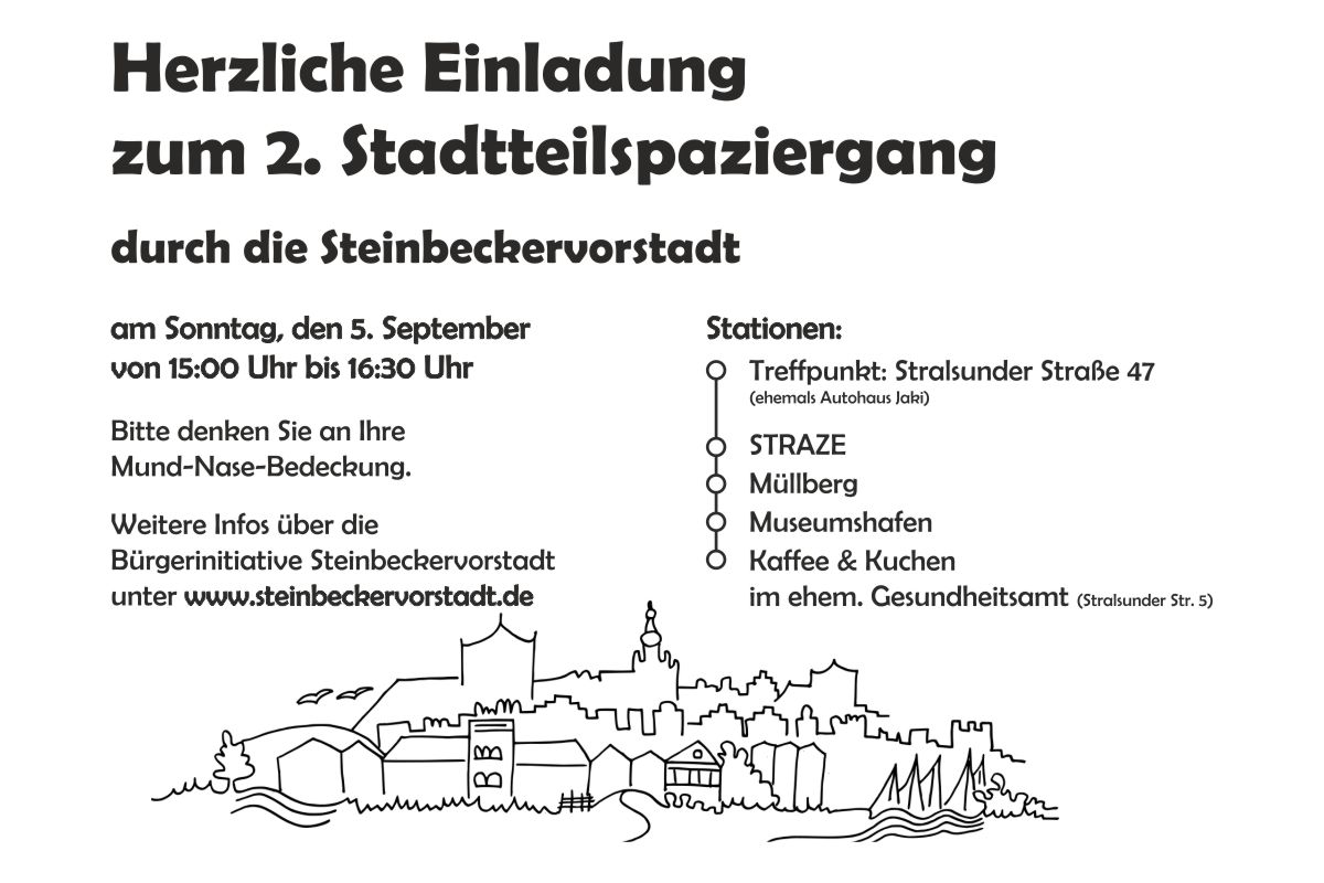 Einladung zum 2. Stadtteilspaziergang am 5.September 2021